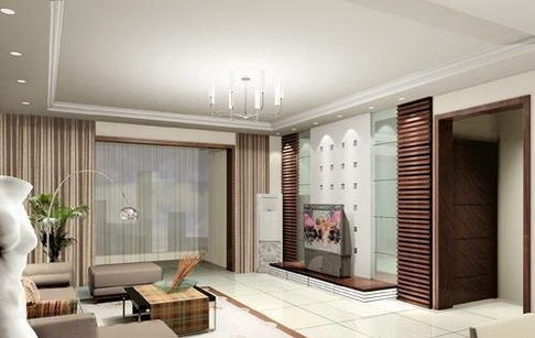 欧式客厅电视背景墙装修效果图